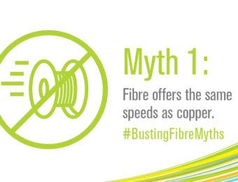 Fibre offers the same speeds as copper is a myth